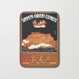 Simplon Orient Express London Athens Bath Mat