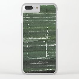 Kombu green abstract watercolor background Clear iPhone Case