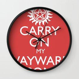 SUPERNATURAL CARRY ON MY WAYWARD SON Wall Clock