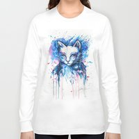 "space cat Long Sleeve T-shirts featuring ""Space cat"" by PeeGeeArts"