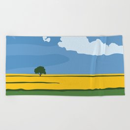 Wide Open Spaces Beach Towel
