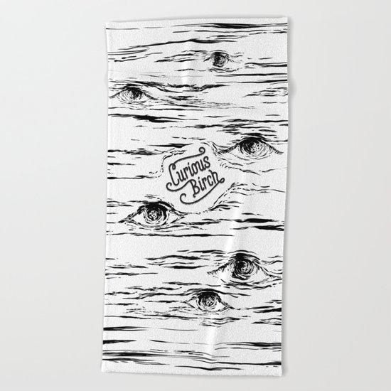 Curious Birch Beach Towel