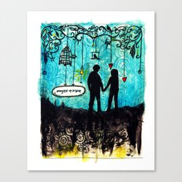 Tangled Up in Love Canvas Print