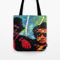 blues brothers Tote Bags featuring Blues by veermania