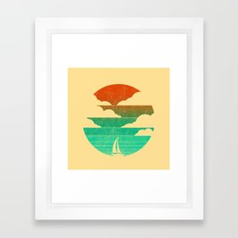 Go West (sail away in my boat) Framed Art Print