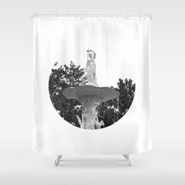 Fountain Statue Shower Curtain