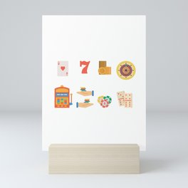 Roulette, Slots, Chips & Cards Nevada Day Mini Art Print