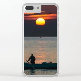 Sunrise Boat! Clear iPhone Case