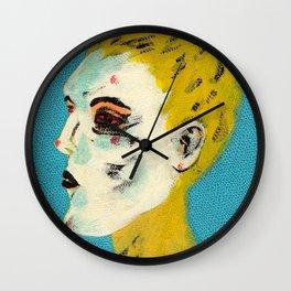 Yellow Heads Wall Clock