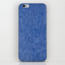 Tuscan Blue Plaster iPhone Skin