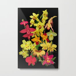 Orchids - Hot Colors! Metal Print