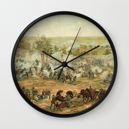 Civil War Battle of Gettysburg July 1-3 1863 by Paul Philippoteaux Wall Clock