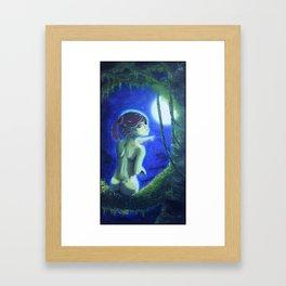 """""""Nude Tree Hugger Moonlight"""", by A.S.O. Framed Art Print"""