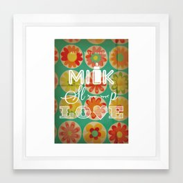 ALL A BABY NEEDS Framed Art Print