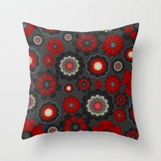 Dark Romance Floral Throw Pillow