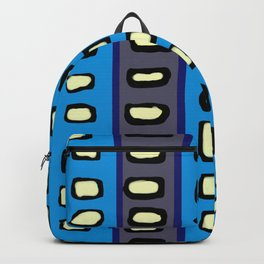 Lines and Circles Dark Gray and Blue Backpack