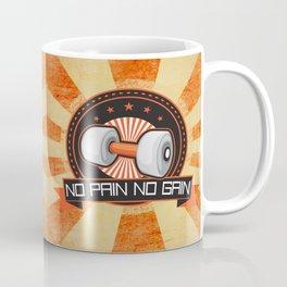 No Pain No Gain Motivational Daily Fitness Quote Coffee Mug