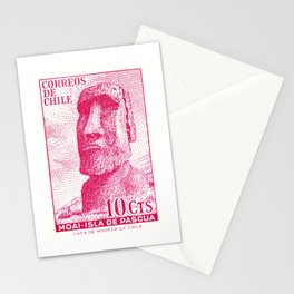1965 CHILE Easter Island Moai Postage Stamp Stationery Cards