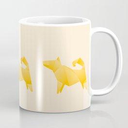Let's Go Outside - Origami Yellow Dog Coffee Mug