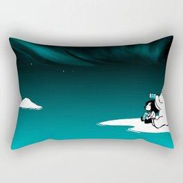 Icelandic bear, aurora borealis Rectangular Pillow