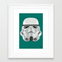 storm trooper Framed Art Prints featuring Storm Trooper by Inza Vita