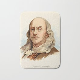Our Country 1891 - Benjamin Franklin Bath Mat