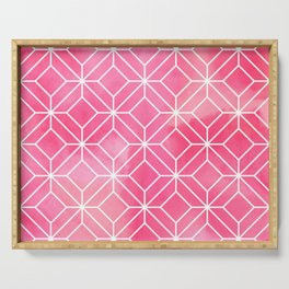 Geometric Crystals: Rose Petal Serving Tray