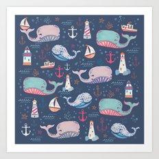Whale Toss Art Print