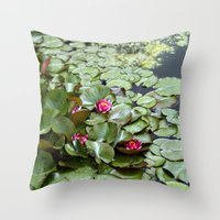 lotus flower Throw Pillows featuring Lotus by Melissa Schantz Photography
