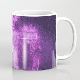 RMB symbol of Chinese currency Yuan Symbol. Monetary currency symbol. Abstract night sky background. Coffee Mug