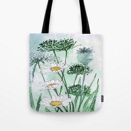Thistles and Daisies Tote Bag