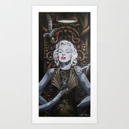 Cyborg Marilyn Art Print