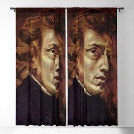 The Portrait of Frédéric Chopin by French artist Eugène Delacroix (1838) Blackout Curtain
