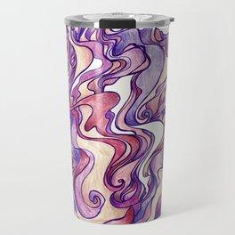 Swirling Purple Travel Mug