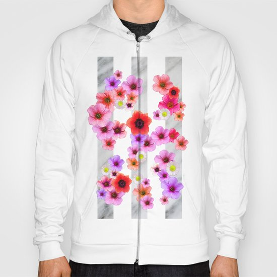 Flowers and Stripes 4 Hoody