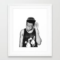 tyler the creator Framed Art Prints featuring Tyler the Creator by Rui Faria