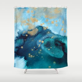 Ocean Dream - Abstract Watercolor Painting Shower Curtain