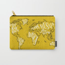 Worldmap vintage yellow Carry-All Pouch