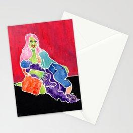 Tandem Nursing Mom Stationery Cards