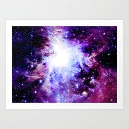 orion Nebula. Purple Magenta Violet Art Print