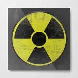 Grunge Radioactive Sign Metal Print