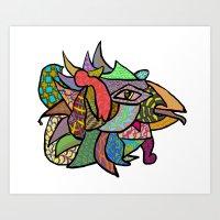 Chicken Art Print Art Print