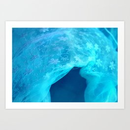 ghost in the swimming pool Art Print
