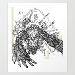Shaman of Sound: the Owl Art Print