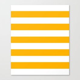 UCLA gold - solid color - white stripes pattern Canvas Print