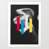 glitch Art Prints featuring Glitch by Mrs Araneae
