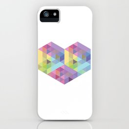 Fig. 028 Geometric Heart iPhone Case