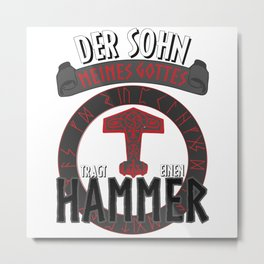 Son Of Odin - Norse Mythology Metal Print