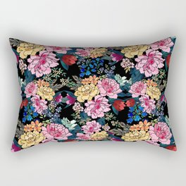 stylish winter flowers bouquets illustration Rectangular Pillow