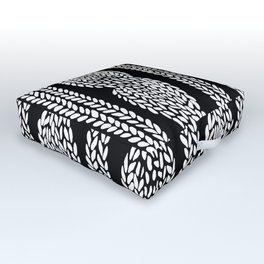 Cable Black Outdoor Floor Cushion